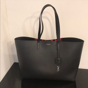 SAINT LAURENT LARGE SHOPPING TOTE BAG